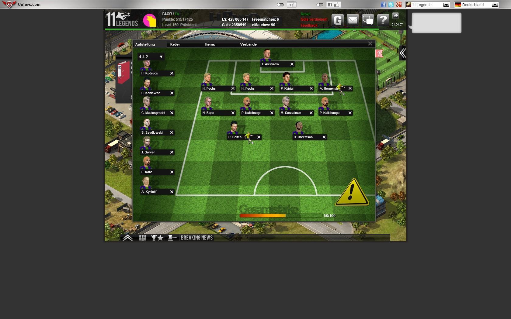 11 Legends Screenshot 01