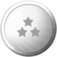 Klicker-Klacker Bubble Topplayer Silber